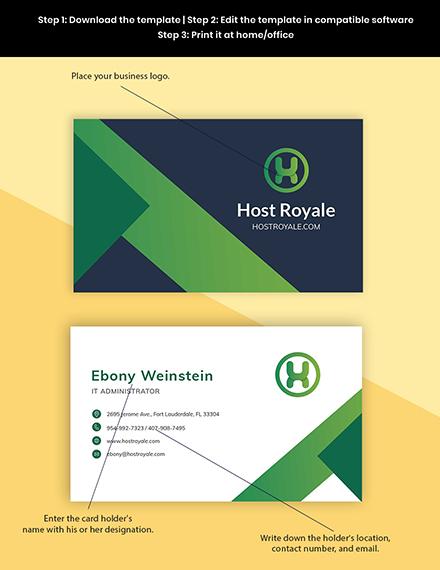 Web Hosting Business Card Template - Word   PSD   Apple ...