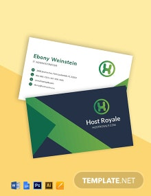Web Hosting Business Card Template