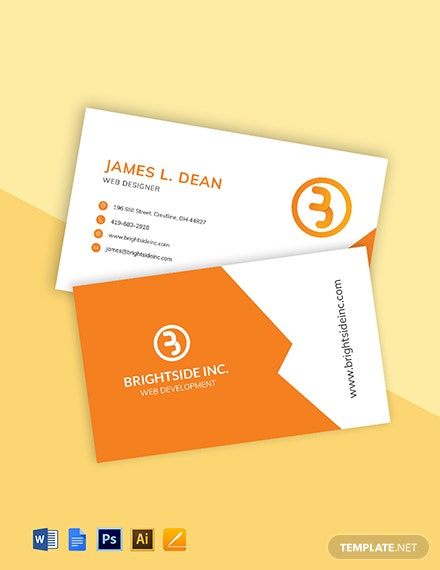 Web Development Business Card Template