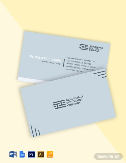 Software Company Business Card Template