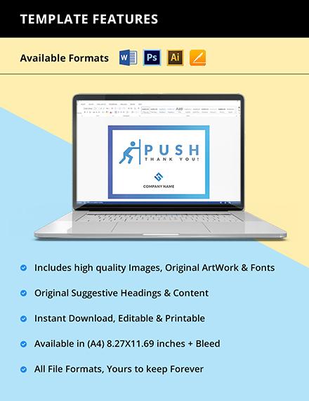 Free PushPull Door Signs Template Instruction