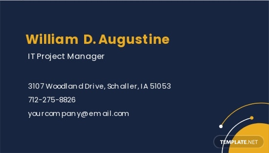Sample Project Manager Business Card Template 1.jpe