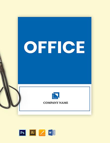 Free Office Door Sign Template