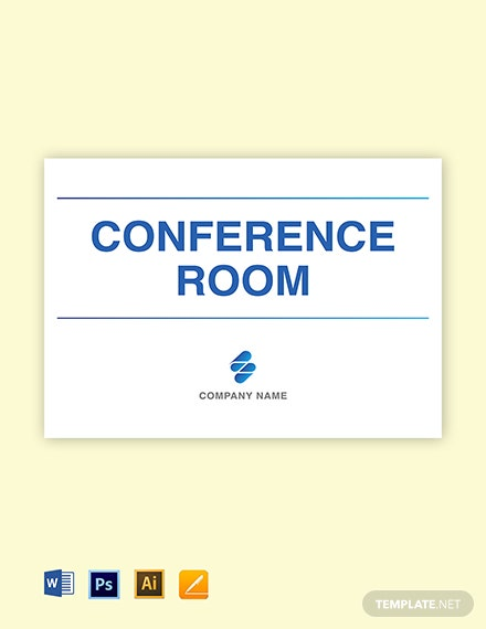 Free Conference Room Sign Template