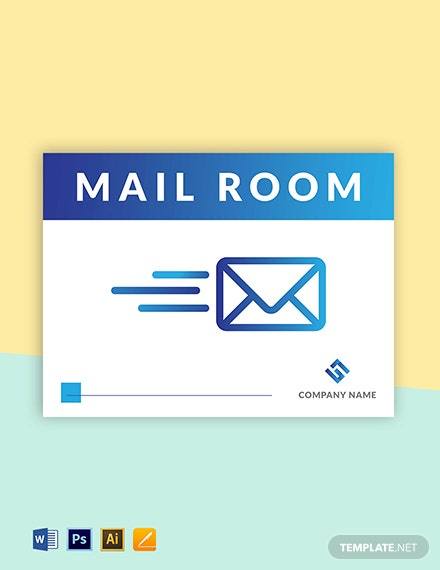 Mail Room Sign Template