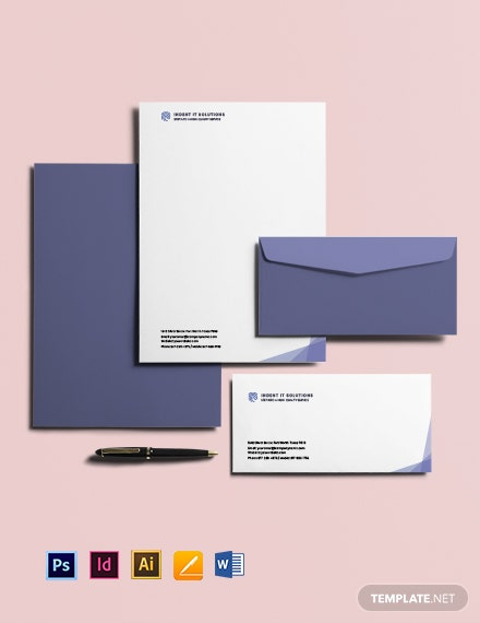 Free Creative IT Envelope Template