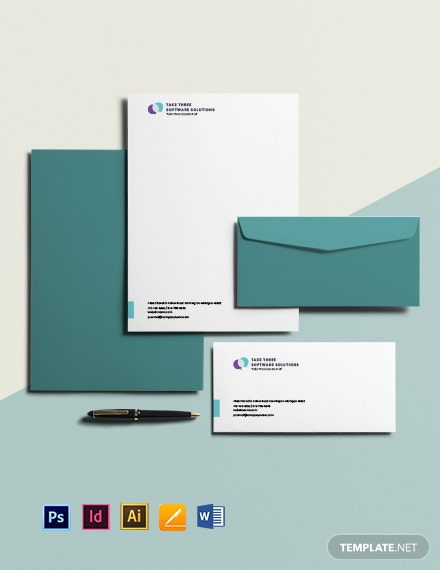 Free Minimalist IT & Software Envelope Template