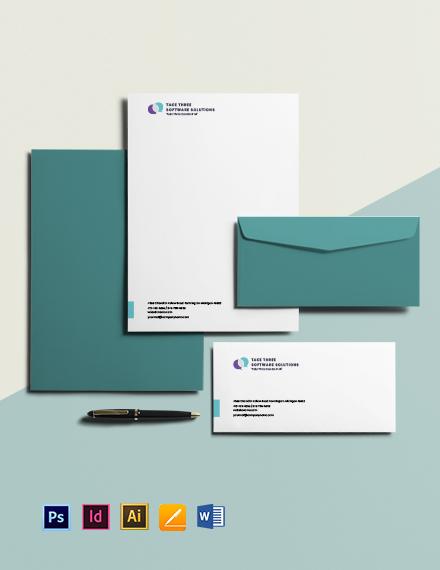 Free Minimalist IT & Software Envelope Template