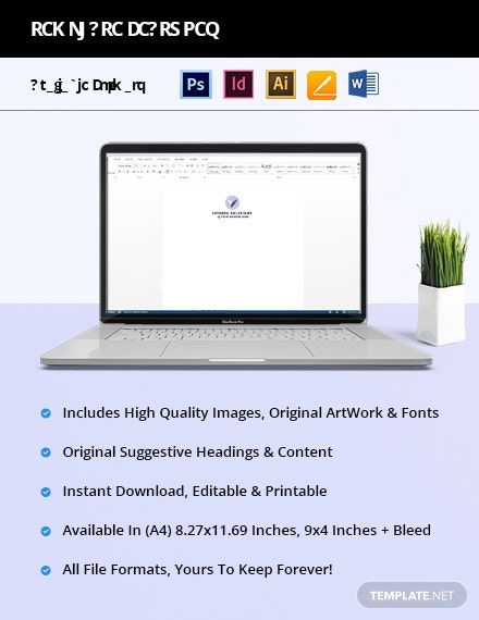 Free Simple IT  Software Envelope Template format