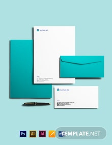 Free Modern IT & Software Envelope Template