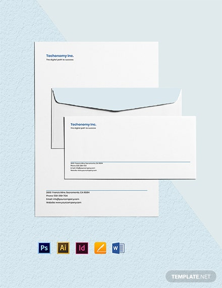 IT Company Envelope Template