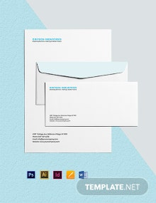 Tech Company Envelope Template