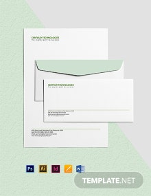 IT Services Envelope Template