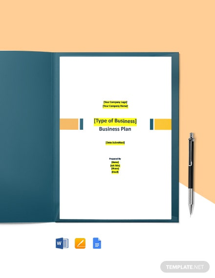 Free Basic IT Business Plan Template