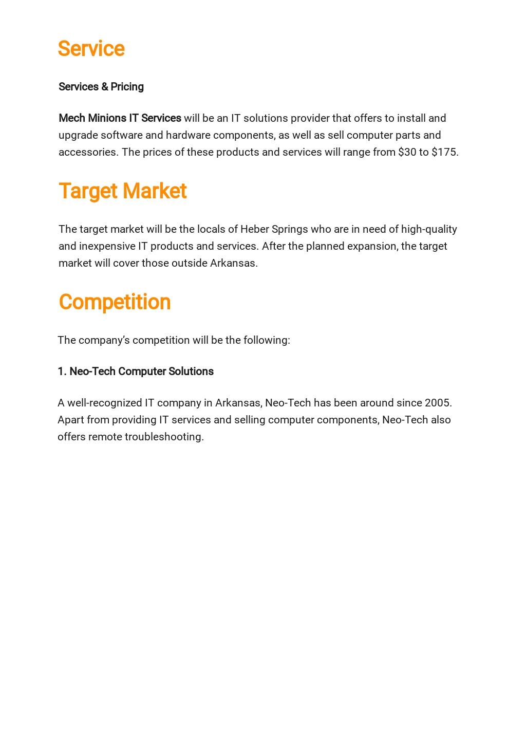 Free Basic IT Business Plan Template 2.jpe