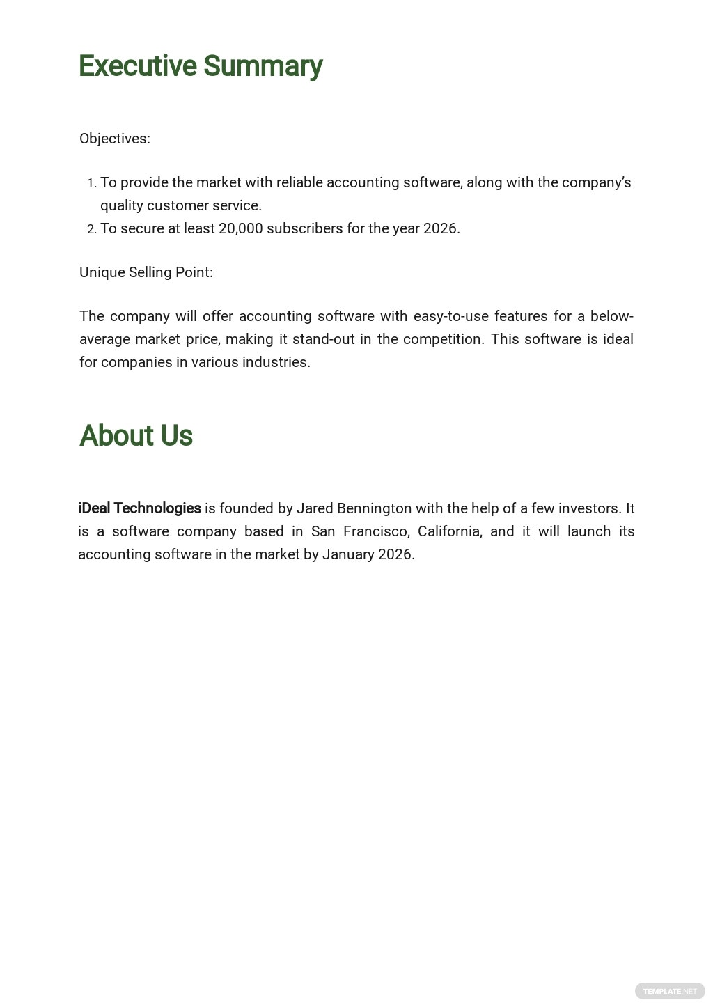 Free Sample Software Business Plan Template 1.jpe