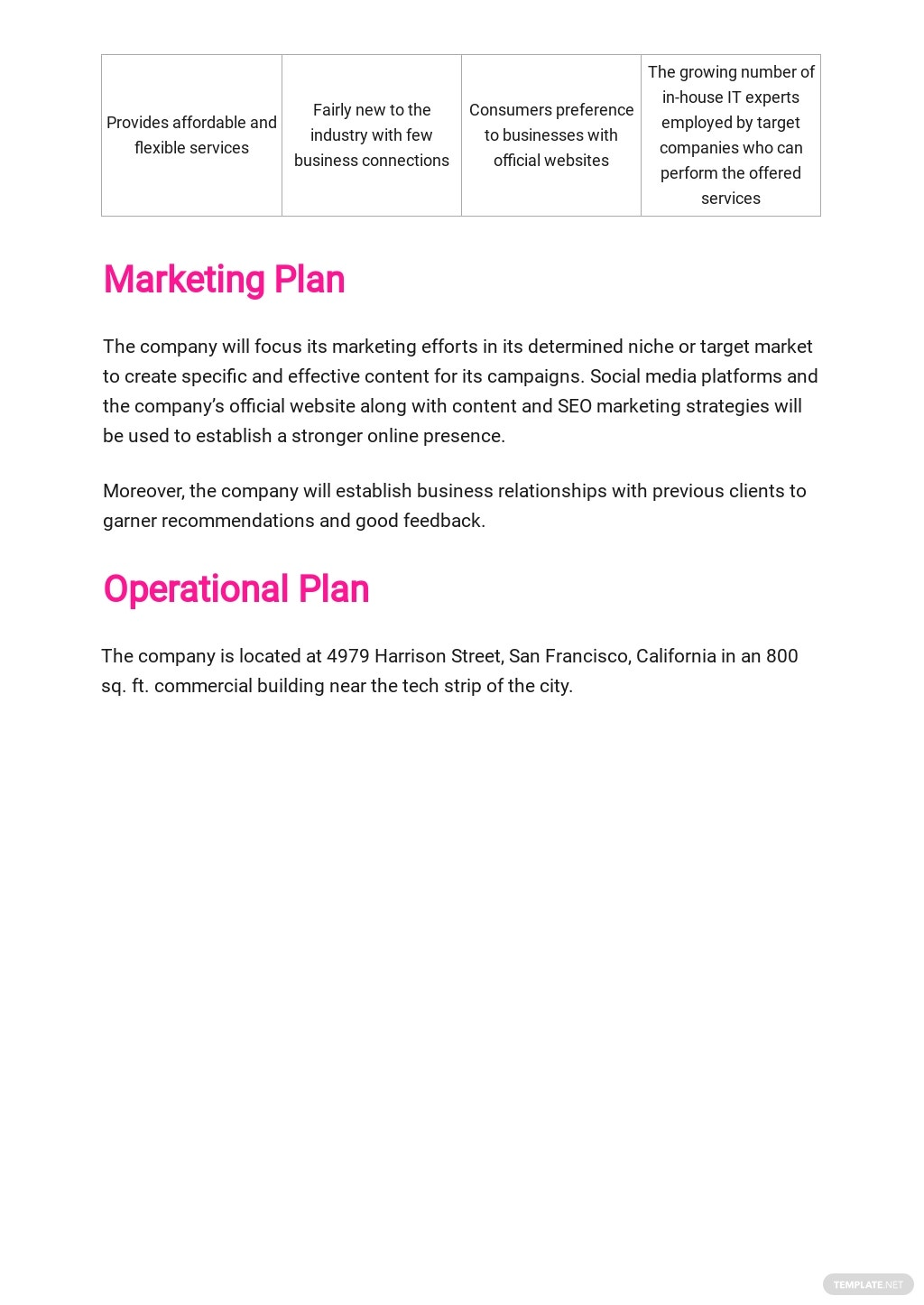 Website Design and Development Business Plan Template 4.jpe