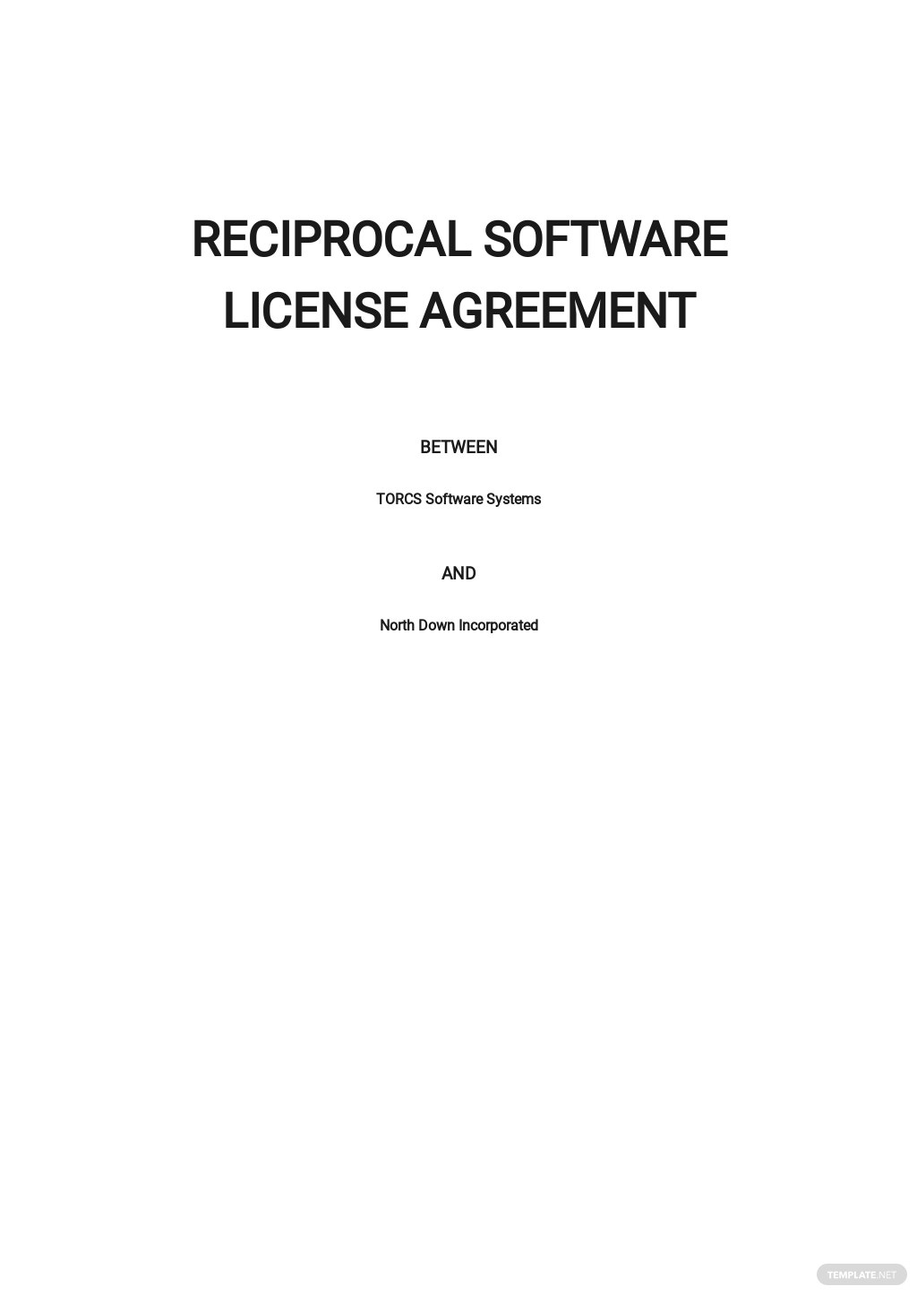 Reciprocal Software License Agreement Template
