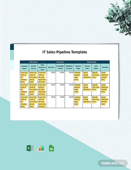 IT Sales Pipeline Template