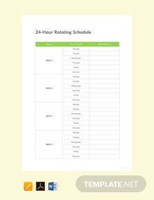 Free 24 Hour Rotating Schedule Template