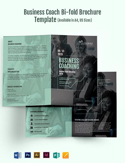 Business Coach Bi-Fold Brochure Template