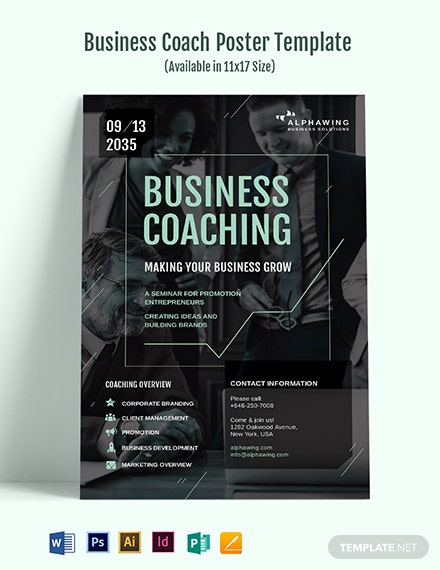 Business Coach Poster Template