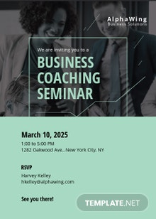 Business Coach Invitation Template