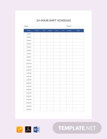 Free 24 Hour Shift Schedule Template