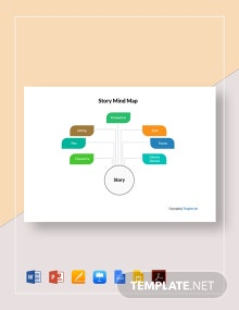 Simple Story Mind Map Template