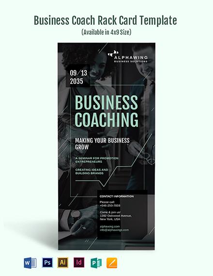Business Coach Rack Card Template