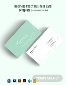 Business Coach Business Card Template