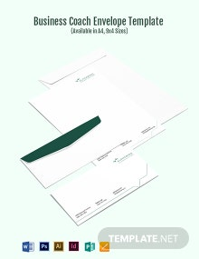 Business Coach Envelope Template