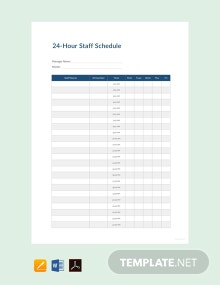 Free 24 Hour Staff Schedule Template