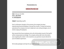 Memo Warning of an Impending Layoff Template