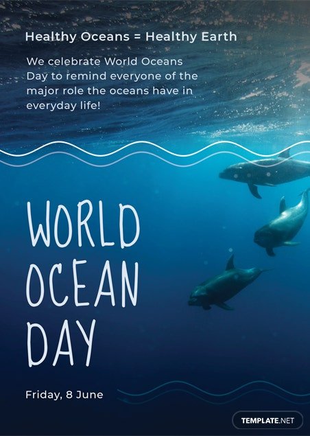 World Ocean Day Invitation Template