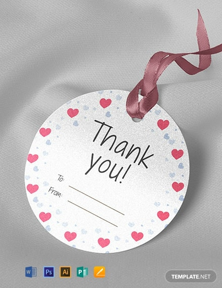 Free Round Thank You Tag Template