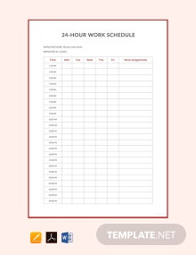 Free 24 Hour Work Schedule Template