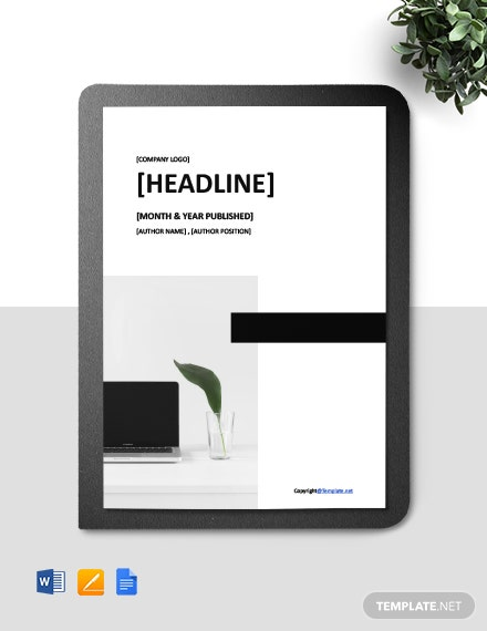 Free Simple IT White Paper Template