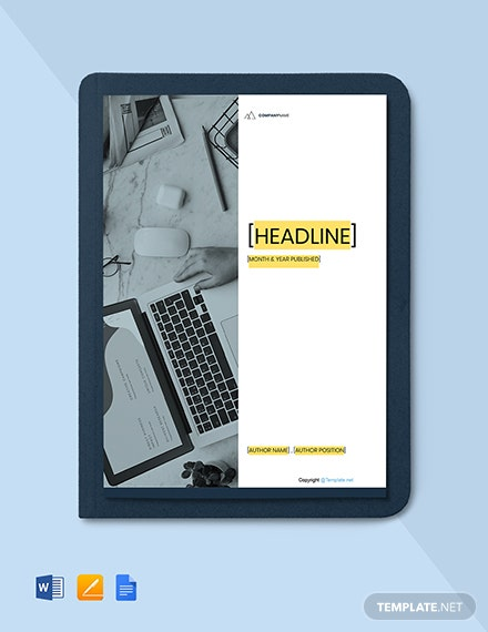 Free Modern IT White Paper Template