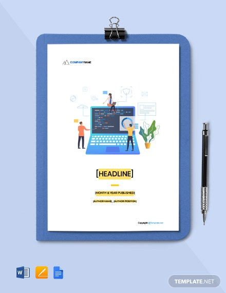 Free Creative Software White Paper Template