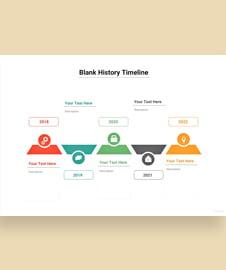 Blank History Timeline Template