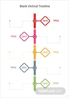 Blank Vertical Timeline Template