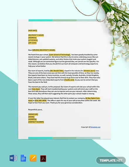 IT Business Proposal Letter Template