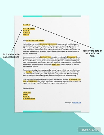 Free IT Business Proposal Editable