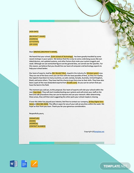 Free IT Business Proposal Format