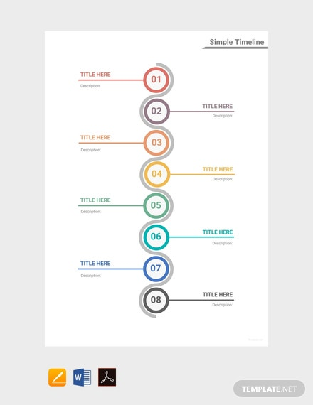 free simple timeline template download 113 charts in word pdf