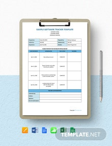 Free Sample Software Tracker Template