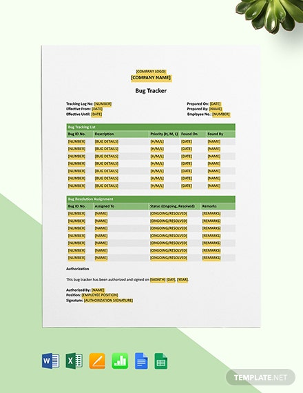 Bug Tracker Template