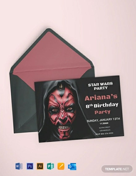 Free Star Wars Birthday Invitation Template