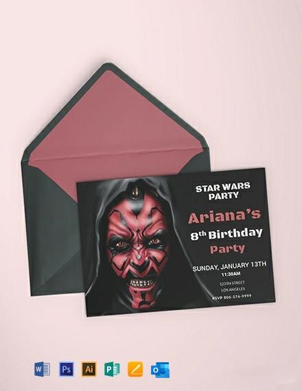 Free Star Wars Birthday Invitation Template